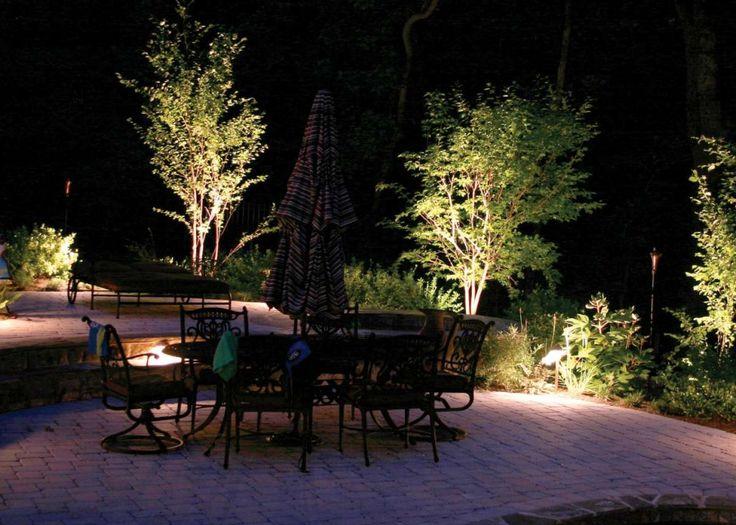 Per valorizzare il giardino direzionate le luci verso le fronde degli alberi