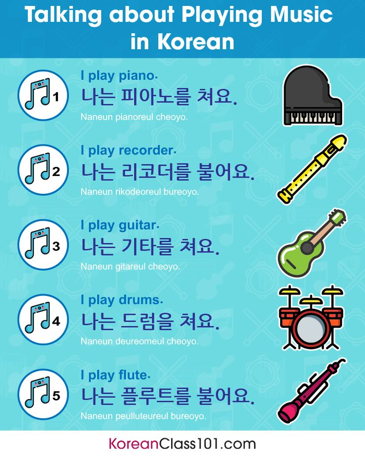 Talking about playing music in Korean 🎹🎸🎺 Would you like