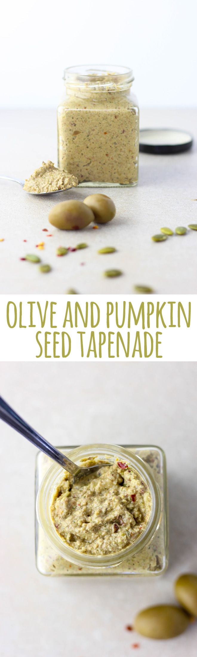 Olive and pumpkin seed tapenade