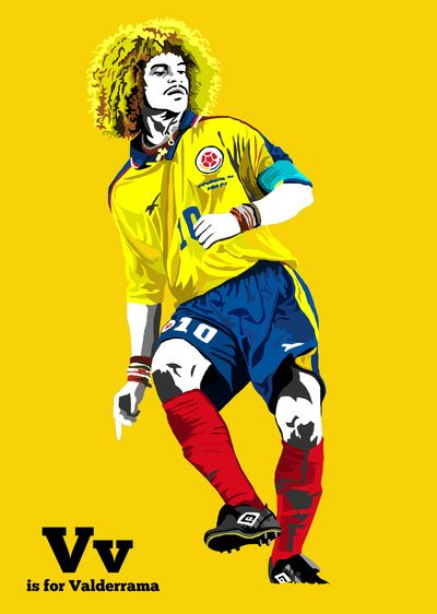 V is for Valderrama Art Print by miniboro | Society6