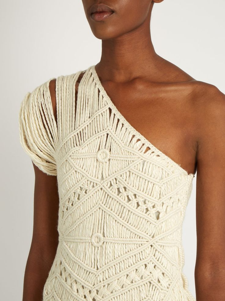 Click here to buy Tabula Rasa Tuva hand-macramé silk and wool-blend dress at MATCHESFASHION.COM