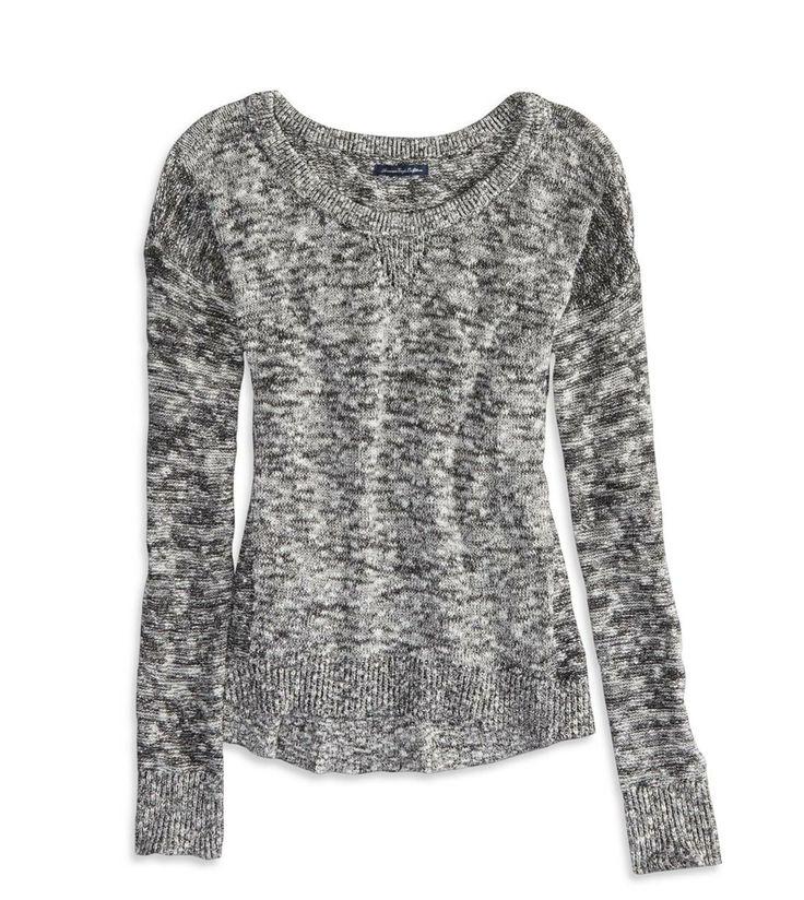 AE Marled Mistletoe Sweater Color: Blue Size: Medium