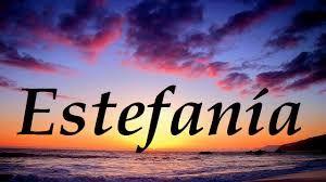 Resultado de imagen para que significa estefania nombre