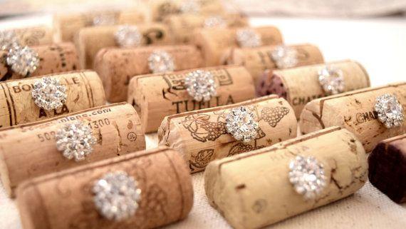 Wedding Place Card Holders Wine Tasting by KarasVineyardWedding