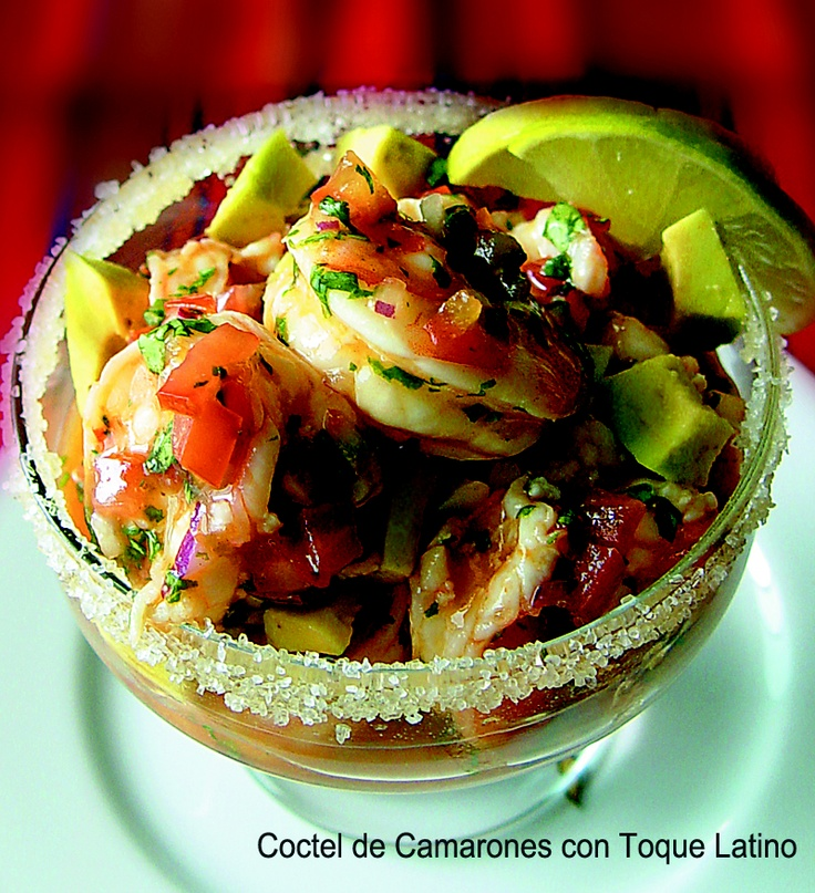 Coctel De Camarones (Colombian-style Shrimp Ceviche Cocktail) Recipe ...