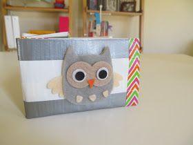 "Love2bloom: ""Wise Money Owl"" Duct Tape Wallet DIY"