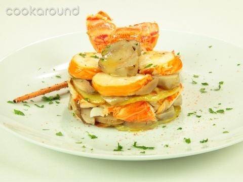 Millefoglie di patate, porcini e aragosta: Ricette di Cookaround | Cookaround