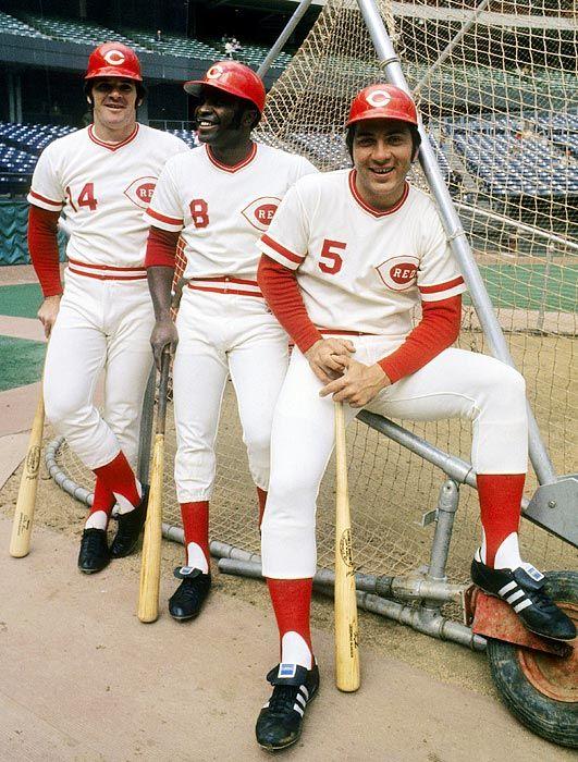"Pete Rose, Joe Morgan and Johnny Bench, Cincinnati Reds, the ""Big Red Machine"", c. 1973"