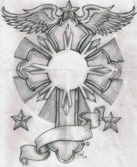 Philippine sun & cross