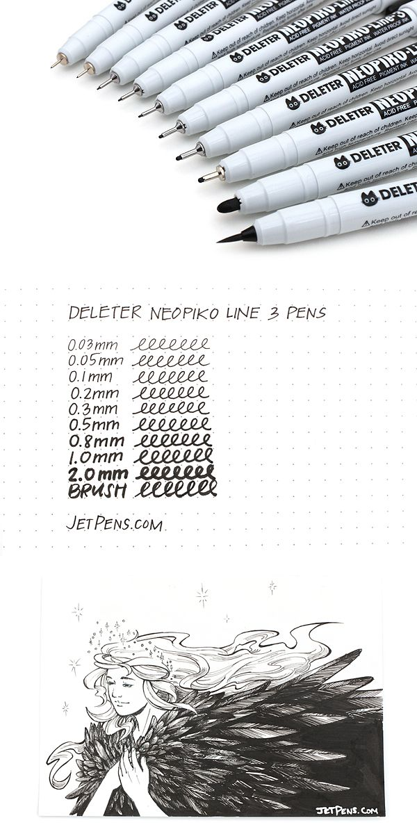 Available in a range of tip sizes, Neopiko Line 3 pens are designed for professional artists, illustrators, and graphic designers.
