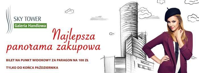 """Pamiętacie o trwającej promocji """"Najlepsza panorama zakupowa"""" ?    Za paragony na 100 zł dajemy bilet na Punkt Widokowy   http://galeria.skytower.pl/najlepsza-panorama-zakupowa.html"""