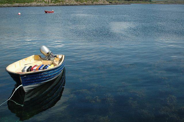 Ulva - Isle of Mull - Scotland  Boat off Ulva Jetty
