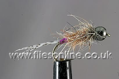 Tungsten Grayling Bug - Hares Ear and Purple