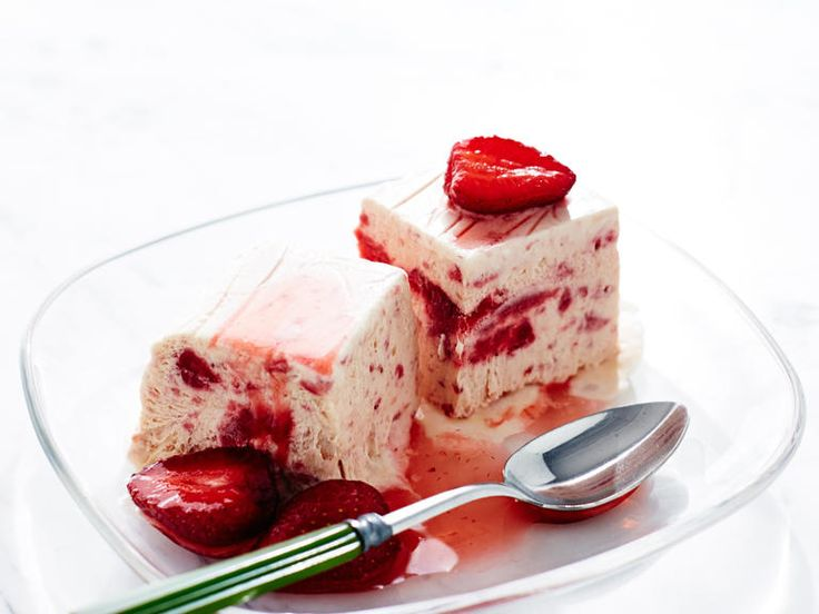 Streaks of berries throughout and more spooned on top make this classic Italian ice cream dessert a great finish to a spring dinner. For...