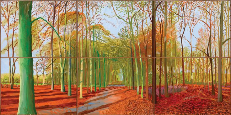 Woldgate woods, David Hockney, 2006