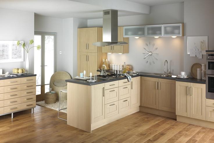 Verve Natural Oak Chippendale Shaker Kitchens
