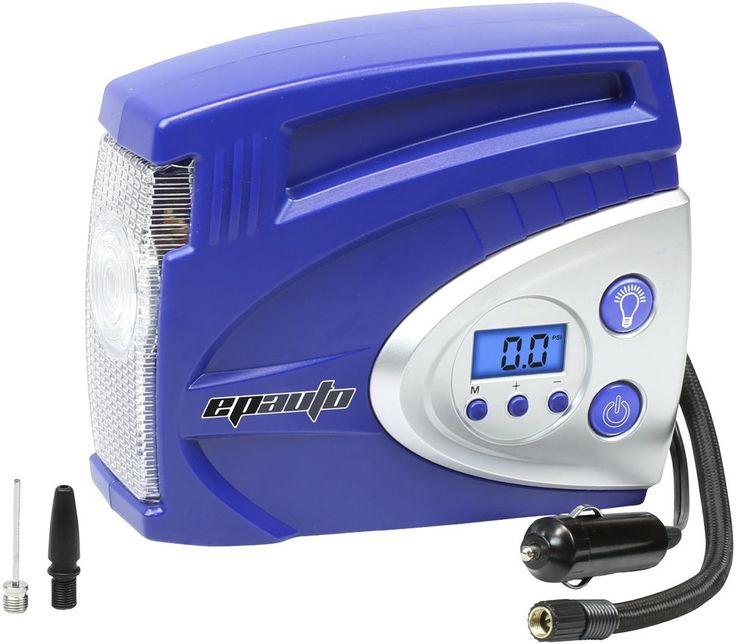Epauto 12V Dc Auto Portable Air Compressor Pump W/ Digital Tire Inflator 100 Psi