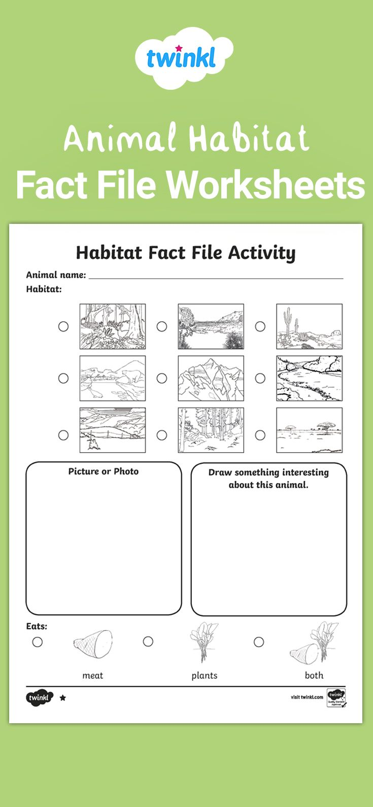 Animal Habitat Differentiated Fact File Worksheets In 2021 Animal Habitats Habitats Teaching Science [ 1590 x 735 Pixel ]