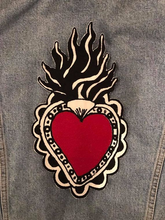 SACRED HEART Patch Cuore Sacro
