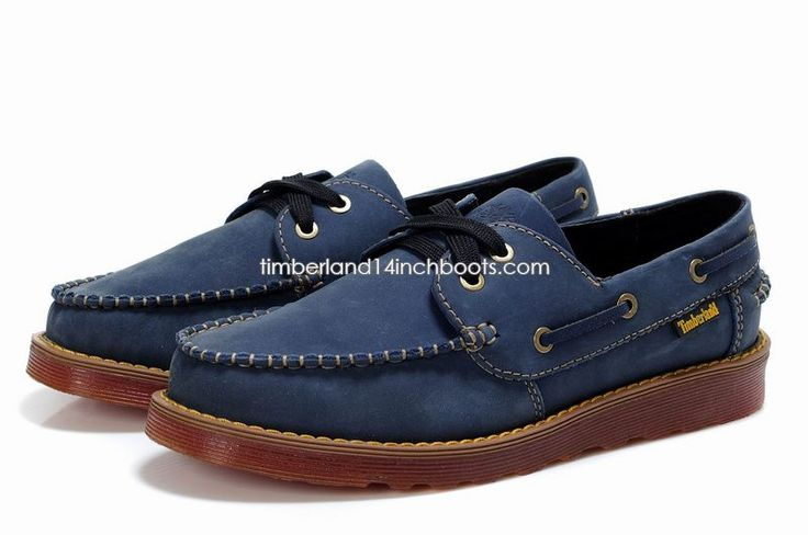 Shipped Free Timberland Men's Classic 2-Eye Boat Deck Shoes Navy Blue $120.00