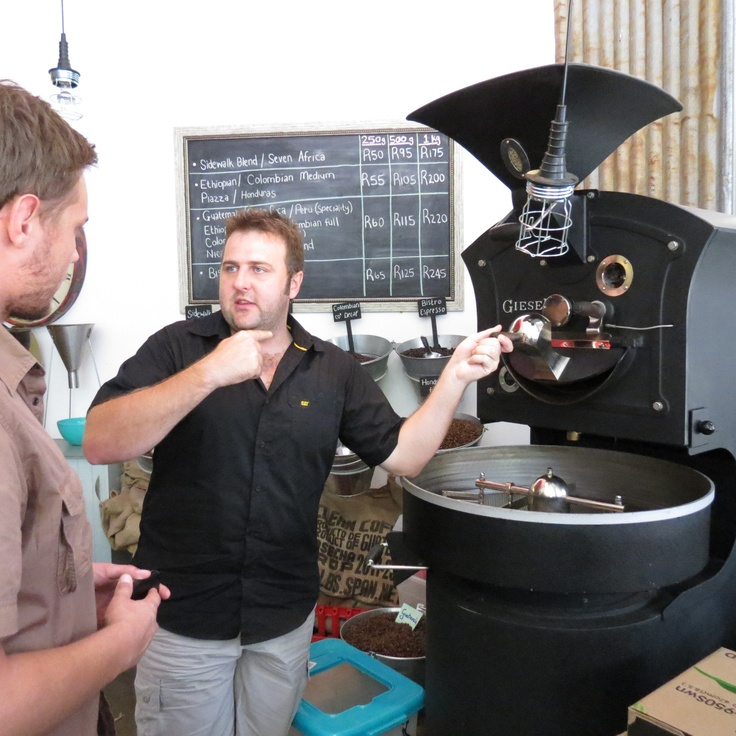 Being taught the process of roasting beans, from start to finish! Definitely a fun and interesting experience!