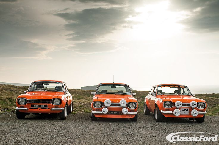 Mk1 Escorts taking part in the Irish Escort Club's Clare Run, from the July 2012 issue of Classic Ford. Photo: Paddy McGrath