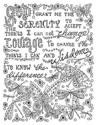 Serenity prayer prayers to color google search for Prayer coloring pages