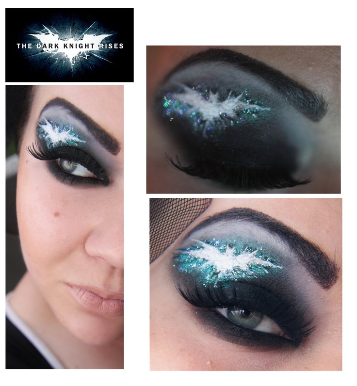 batman dark knight eye makeup for halloween - Eyeshadow For Halloween