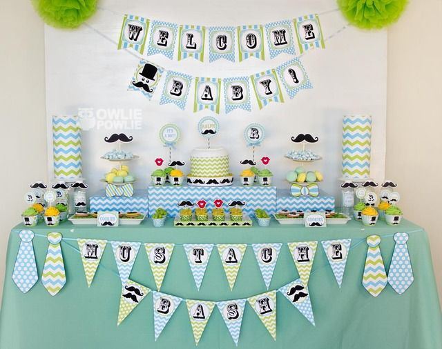 little man mustache bash baby shower party ideas will have cakes