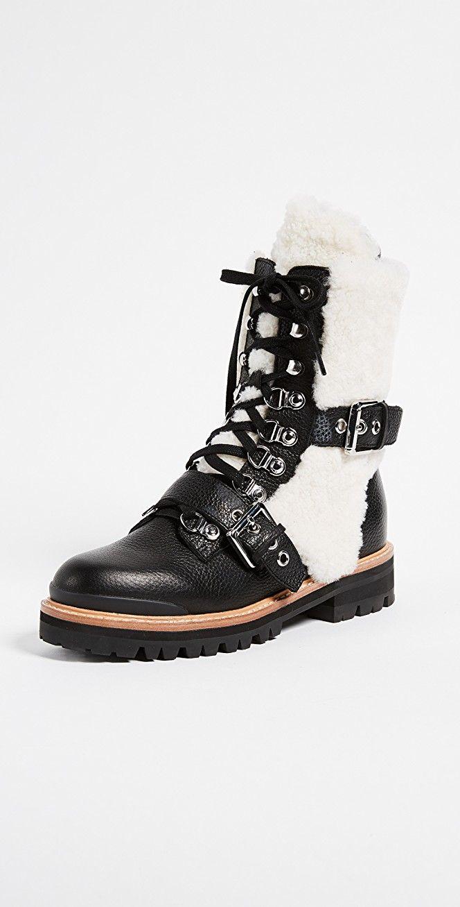 Sigerson Morrison Iris Shealing Buckle Boots | SHOPBOP