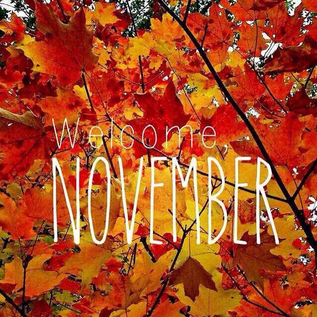 .Welcome November.     t