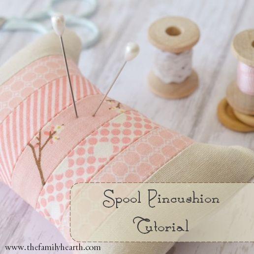 Spool Pincushion, so adorable, a tutorial