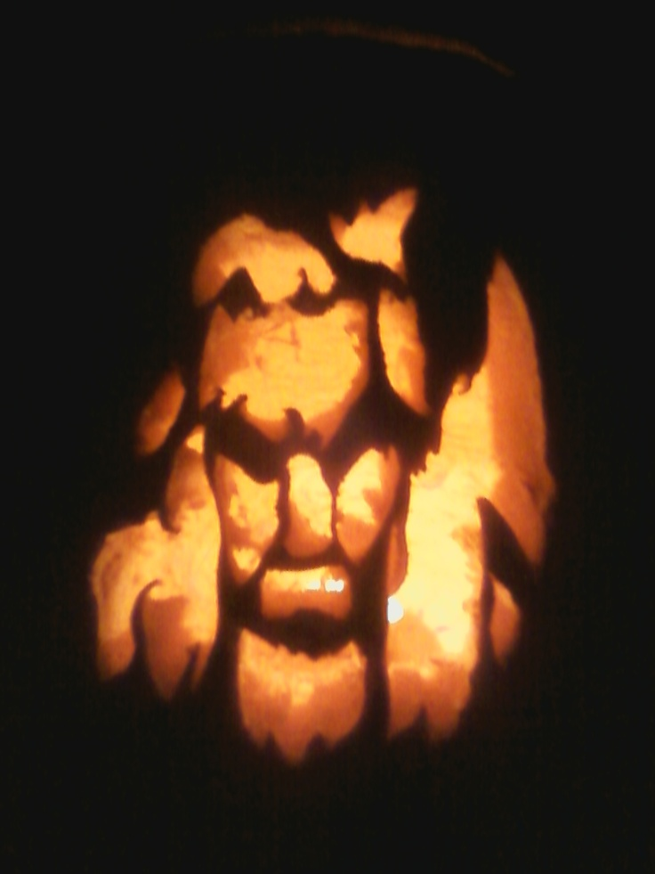 My daughters Rob Zombie pumpkin she carved