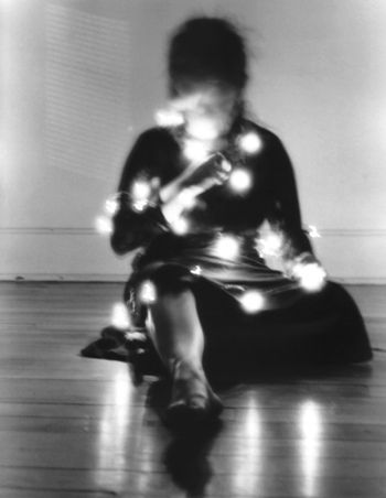 Queen of Pentacles | Flickr - long exposure shot with fairy lights.. creepy