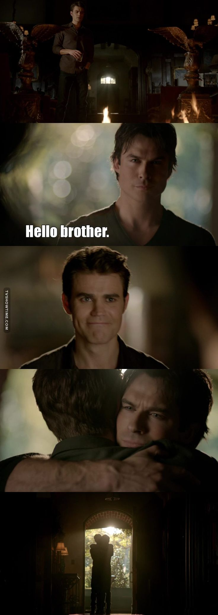 """I'm a vampire and this is my story"". TVD ended with 171 episodes. Stefan's age. It really was his story, and I loved that the last scene ever we've got of TVD was one of Stefan and Damon finally letting each other be at peace and happy in the afterlife. Defan was the most important relationship of the show after all."