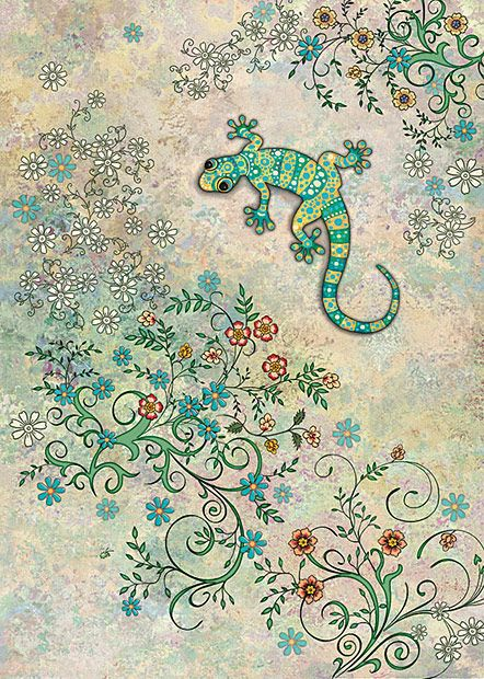 BugArt Decoratives ~ Wall Gecko. DECORATIVES Designed by Jane Crowther.