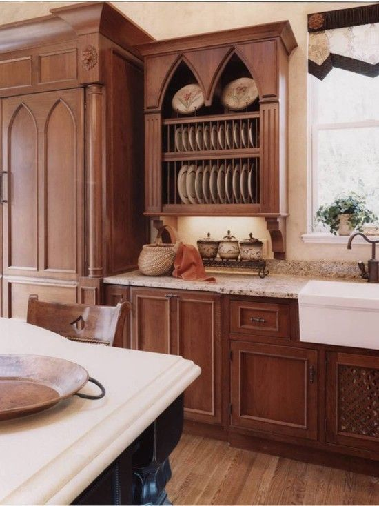 gothic cabinets Wroxeter on the Severn - traditional - kitchen - dc metro -  Gina Fitzsimmons ASID