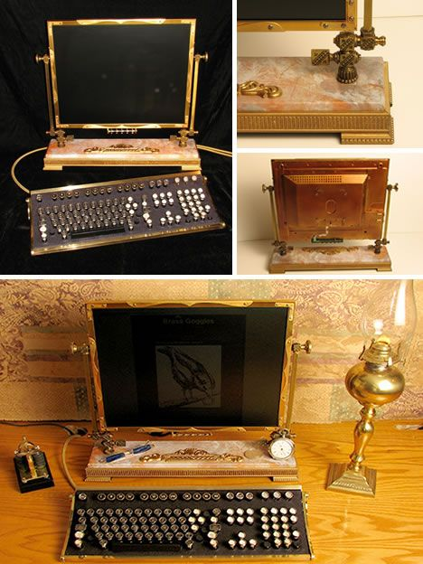 Steampunk desk top.... I think I will need something a bit more for work though.