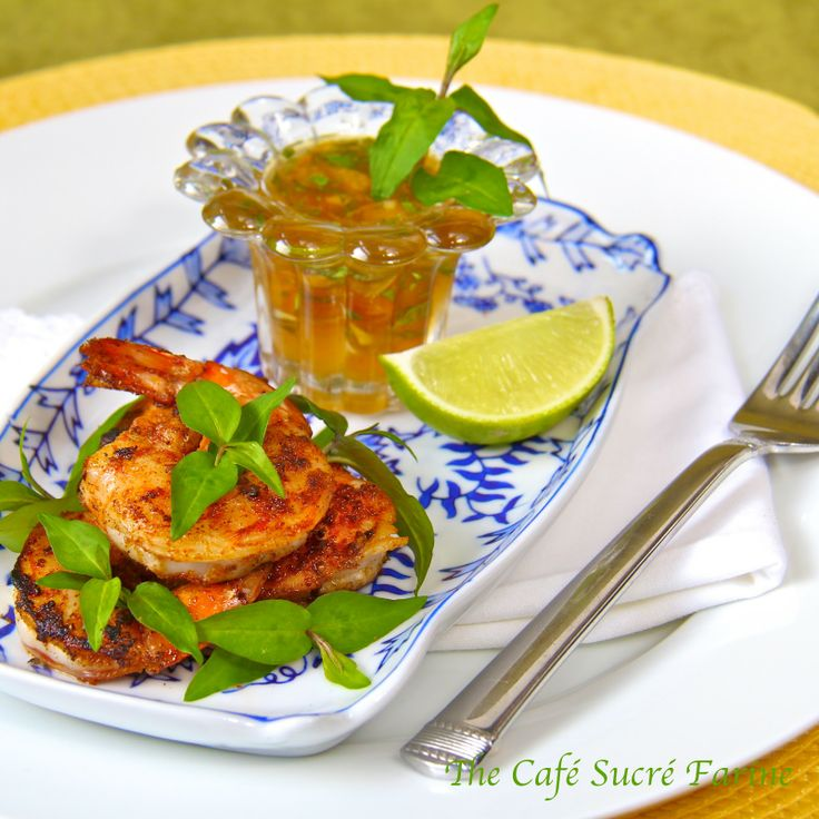 Pan-Seared & Blackened Shrimp w/ Marmalade Dipping Sauce - you'll love this as an appetizer or delicious entrée!