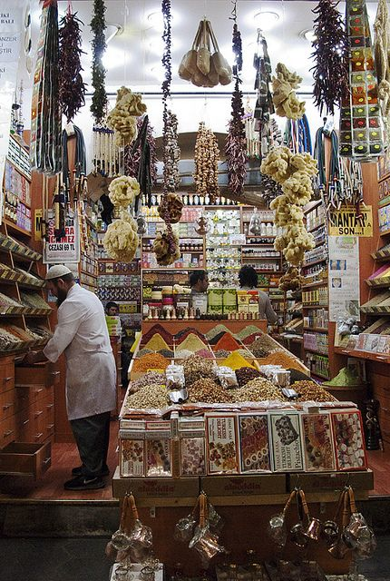 Spice Bazaar in Istanbul - You can find everything here, spices for every meal.