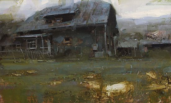 Woodsman´s Cabin by Tibor Nagy Oil ~ 12 x 20