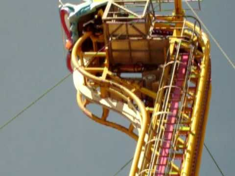how about trying a vertical velocity?    [got this clip from Youtube while searchin on rollercoasters]