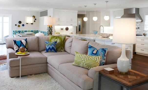 How to get your accent pillows right - lots of nice ideas #Houzz