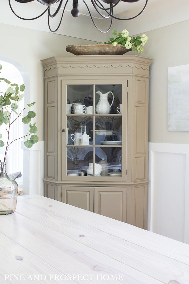 Pin On Home Furnishings Furniture Makeover Inspiration Cottage style dining room hutch