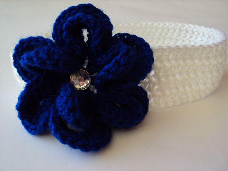 Stirnband mit Blume von Mariola auf DaWanda.com