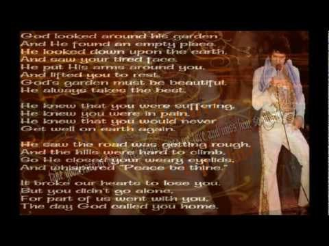 Elvis Presley-Take My Hand, Precious Lord - with Lyrics - be sure to read what's written in the description about this beautiful song - YouTube