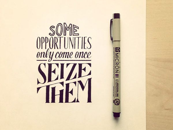 some-opportunities-only-come-once #typography #inspiration #oneyeartogether http://www.corsowebdesignerfreelance.it
