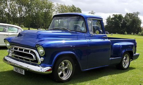 1957 blue chevy pick up truck | Flickr: The 55-56-57 Chevy and GMC Pickup-Truck-panel-Suburbans Pool