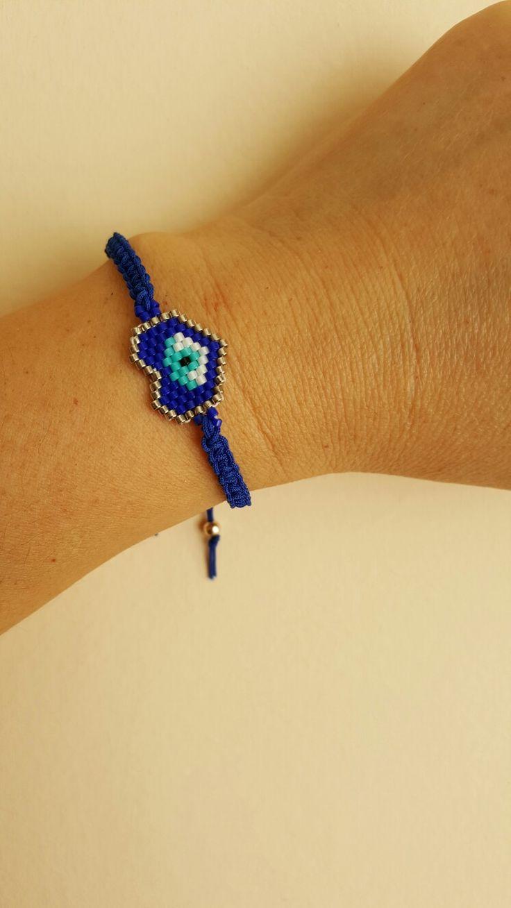 My work. Miyuki beads. El yapımı nazarlık bileklik