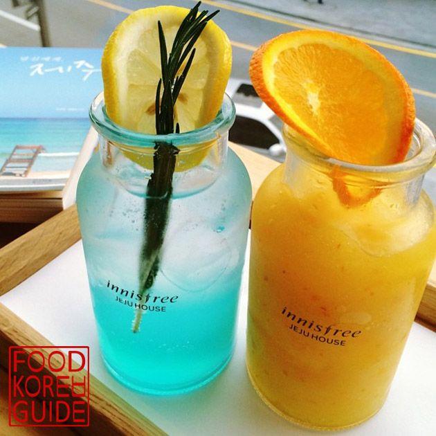 Jeju Sea Lemonade & Jeju Hallabong Blender 제주 바다 레모네이드 & 제주 한라봉 블렌더